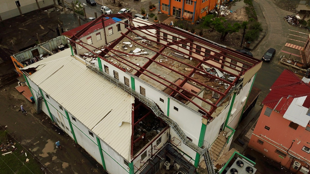 island block corporation damaged building tortola bvi